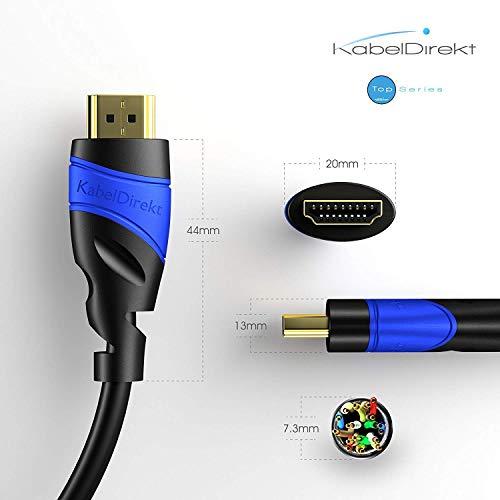 Panasonic DMR-UBC70EGK UHD Blu-ray Recorder & KabelDirekt - 4K HDMI Kabel - 1,5 m - kompatibel mit (HDMI 2.0a/b 2.0, 1.4a, 4K Ultra HD, 3D, Full HD, HDR, ARC, Highspeed mit Ethernet) - TOP Series