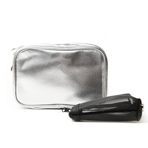 Pinceau de maquillage, PU en argent peut mettre une brosse à maquillage 12 pièces (pas de brosse à maquillage)