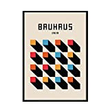 Cuadros de arte de pared de línea abstracta de patrón geométrico colorido, carteles e impresiones nórdicos, pinturas digitales sin marco A8 20x30cm