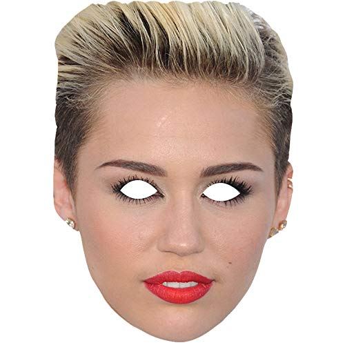 Lord Fox Miley Cyrus Celebrity Singer Face Mask Fancy Dress 5 Face Masks with Elastic String Ready to Wear