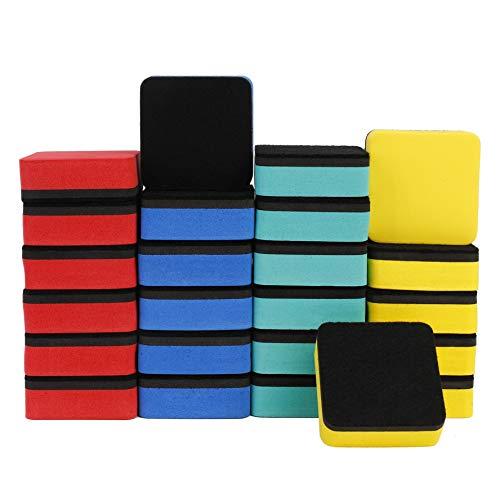 Borradors Magnetico de Pizarra Blanca, Paquete de 24 Niños Multicolor Eraser Mini para Pizarras de Rotulador, Limpiadores de Espuma 5 x 5 x 2cm Perfectos para la Oficina, el Hogar y Las Aulas