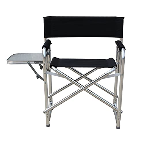 Kettles Outdoor Folding Director Sessel Legierung Sport Camping Stühle Lightweight Super Große Ausgestattet mit Sortentisch Taschen Unterstützungsrahmen Geeignet für Outdoor Camping Angeln Studio