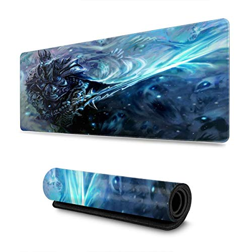World of Warcraft Lich King Mouse Pad Rectangle Non-Slip Rubber Electronic Sports Oversized Large Mousepad Gaming Dedicated,for Laptop Computer & PC 11.8X31.5 Inch