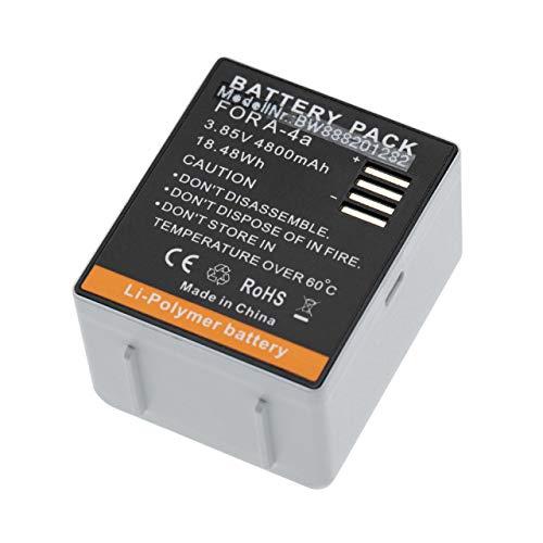 vhbw Batería reemplaza Arlo 308-10069-01, A-4a para Cámara Espia (4800mAh, 3,85V, polímero de Litio)