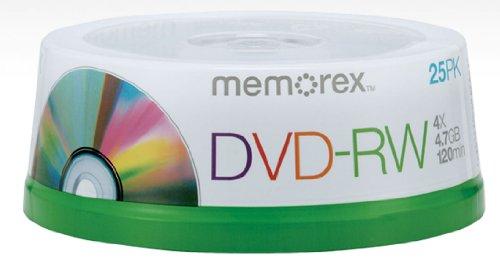 MEMOREX 25PK DVD-RW SPINDLE