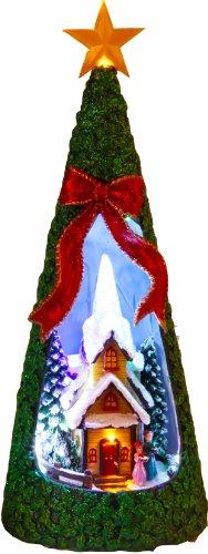 Star Sapin de Noël LED Motif : église, 26 x 10 cm, LED multicolore, fonctionne avec pile boîte de quatre couleurs avec,