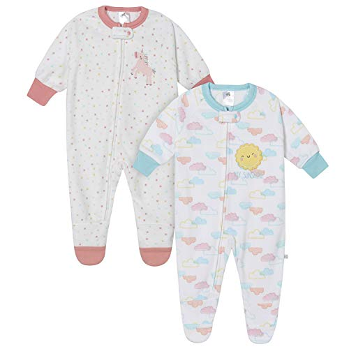 Just Born 2-Pack Blanket Sleepers, Clouds & Unicorn, 24M