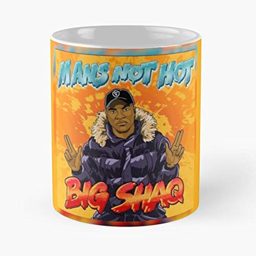 Rnb Big Grime Mans Shaq Not Hot Rap Black La Mejor Taza de café de cerámica Blanca de 11 oz