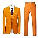 Sunnyuk Trajes para Hombre Traje de Esmoquin de Boda Slim Fit de 3 Piezas para Hombres Un botón Traje Formal Chaqueta Blazer Chalecos Pantalones