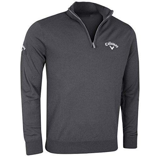Callaway Golf Windstopper 1/4 Zip Mens Golf Thermo Trui Stille Schaduw Klein