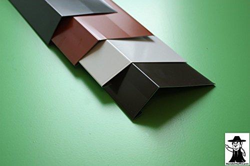 Traufblech 2 m lang Aluminium 0,8 mm (mittel, antrazit Ral 7016)