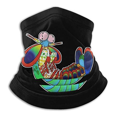 LAKILAN Unisex Neck Warmer,Dustproof Headband,Outdoors Face Protection,Headwear For Men And Women,Windproof Head Wrap Colorful Rainbow Smasher Peacock Mantis Shrimp