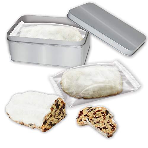 Saftiger Mini Butterstollen in Geschenk-Dose - 200g von LEBKUCHEN WELT