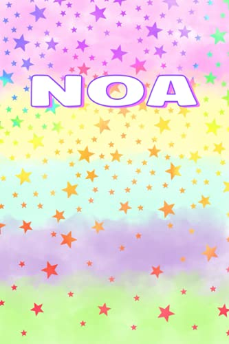 NOA PERSONALIZED NAME JOURNAL: Lined Notebook For Girls and Women (Gifts Idea For School, Birthdays and More)
