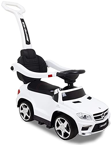 Kijana Mercedes GL63 Correpasillo para Niños Mayores de 1 Año Cochecito Automóvil, Blanco
