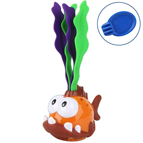 Wiivilik Cartoon Wasser Pool-Spiel Tauchen Pool Spielzeug Schwimm Algen Tauchen Fisch glühendes Spielzeug-Geschenk für Kinder Gehirn Spiel