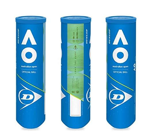 DUNLOP Australian Open Pack 12 Bälle (3 x 4 Bälle)