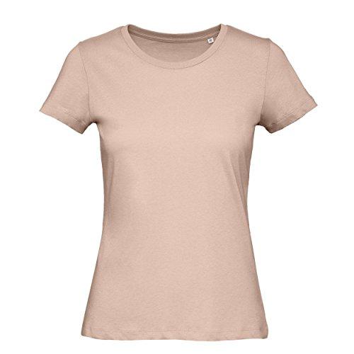 BC Footwear B&C - Camiseta de Manga Corta de Algodón Orgánico Modelo Favourite Para Mujer (Extra Grande (XL)/Rosa)