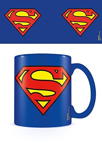 Pyramid International Superman Logo Keramikbecher, Keramik, Mehrfarbig, 8.5 x 12 x 10.5 cm