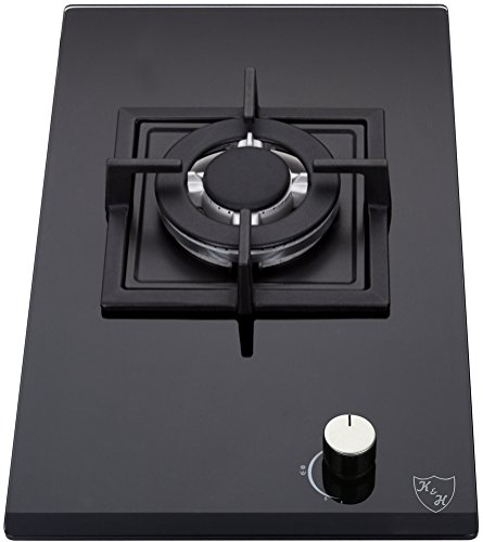 K&H® Domino 1-FLAMMIG Glas Gaskochfeld Wok Brenner Erdgas 1Z-KHGW