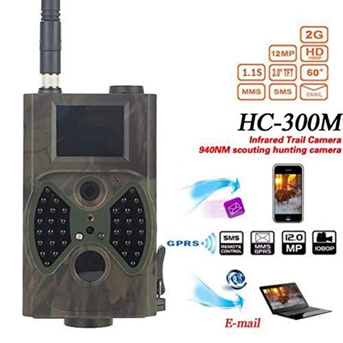 Cutogain Wild Jagd Kamera, Wildlife Trail Kamera, HD Jagd Trail Digital Animal Kamera 1080P Infrarot Scouting Überwachung Jagd Kamera HC-300M