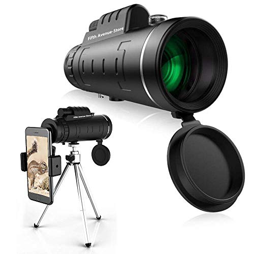 Monocular Telescope CE Optics 40x60 - High Powered BAK4 Prism Phone Scope with Smartphone Tripod and Mount Adapter, Perfect for Adults, Birdwatching, Hiking, Wildlife, Concerts