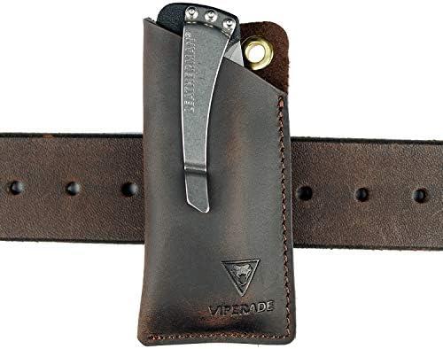 VIPERAED PJ11 Leather EDC Pocket Slip for Leatherman Rebar KICK Crater C33 knife Mini Knife product image