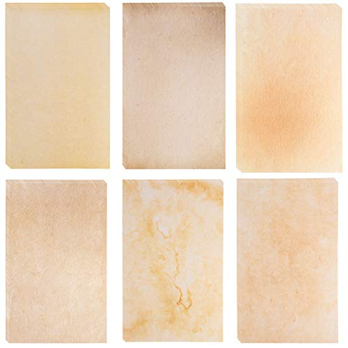 Aged Paper, Vintage Stationery Set (8.5 x 14 In, 48 Sheets)