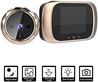 Camera Nest Doorbell Video Doorbell Doorbell Camera Nest 2.8-Inch LCD Screen Door Camera Doorbell Night Vision Photo Shooting Digital Door Monitoring Digital Door Viewer Peephole Gold
