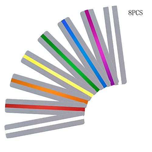 YAYOSUE Guided Reading Strips Highlight Strips Colored Overlay Highlight Bookmarks Tracking Rulers Helps with Reduce Visual Stress Children and Teacher Supply Assistant(8PCS)