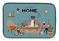Caroline's Treasures Smooth Fox Terrier Sweet Home 食器乾燥マット 14 x 21インチ マルチカラー