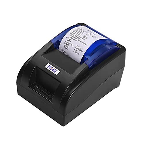 Bisofice impresora de recibos térmica portátil de 58mm USB Impresora de billetes Impreso por cable Soporte de impresión Cajón de efectivo Compatible con ESC/POS para sistemas Windows/Linux/Android