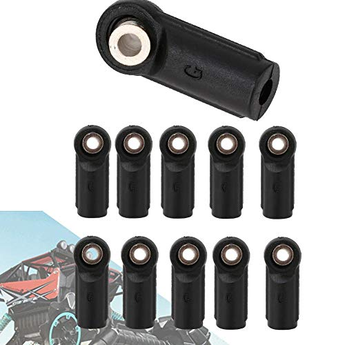 Dilwe 10 STÜCKE M4 Gelenkkopf Kugelkopf Fit für Axial SCX 1/10 RC Auto Crawler( gerade )