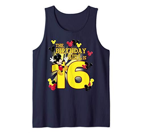 Disney Mickey And Friends Mickey 16th Birthday Girl Tank Top