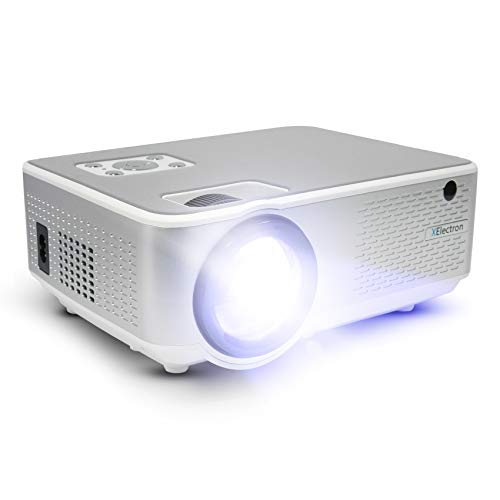 XElectron C9 Real HD 720p (1080p Support) | 3800 Lumen (380 ANSI) with 180 inch Large Display LED Projector | VGA, AV, HDMI, USB, Audio Out Connectivity | 2021 Release