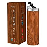 Insulated Skinny Stainless Steel Tumbler - 18oz Coffee Tumbler with Flip Top Lid - Travel Coffee Mug 100% Leak-Proof Lids - Slim Vacuum Insulated Tumblers Keeps Hot and Cold - Great for Home, Office.
