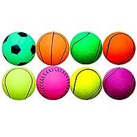 TOYANDONA 8ピース犬ボールおもちゃ犬テニスボールゴムボール運動子犬ペット犬子犬猫トレーニングプレイ(ランダムスタイル)