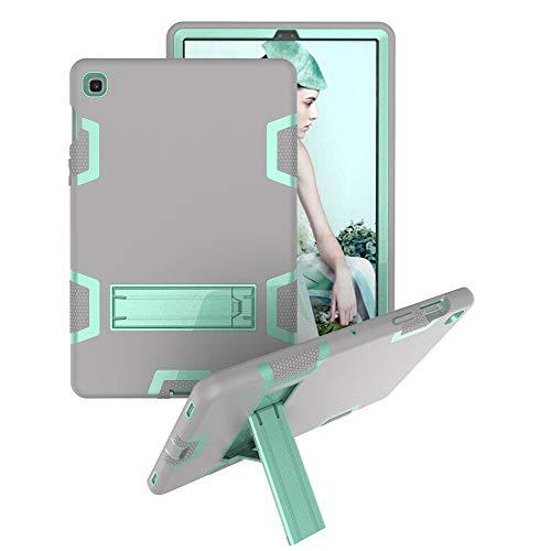 Bestgay Funda para Galaxy Tab A 10.1 2019, T510 / T515, resistente y resistente de cuerpo completo híbrido a prueba de golpes con función atril para Samsung Galaxy Tab A 10.1 T510 / T515 (gris+Aqua)