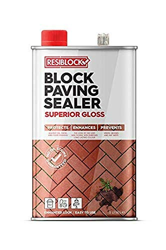 Resiblock Gloss Superior Block Paving Patio Sealer Bonds Jointing 1 x 5 Ltrs