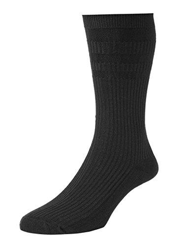 Damen/Damen HJ Hall Socken, unelastisch Baumwolle Rich belüftet Fuß Socken, verschiedene Farben und Größen Gr. M, schwarz
