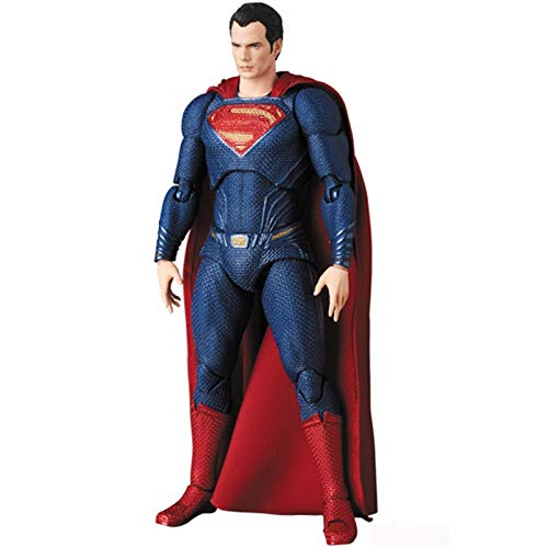 QJJ 6inch DC Superman Mafex 057 Justice League Super Man Action Figure Collection Model Toy Doll