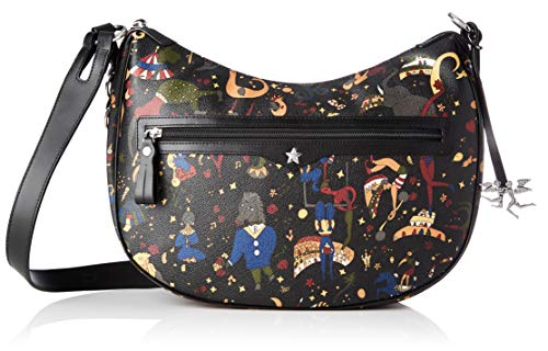 piero guidi Cross Body, Borsa a Tracolla Donna, (Nero), 24.5x30x17 cm (W x H x L)
