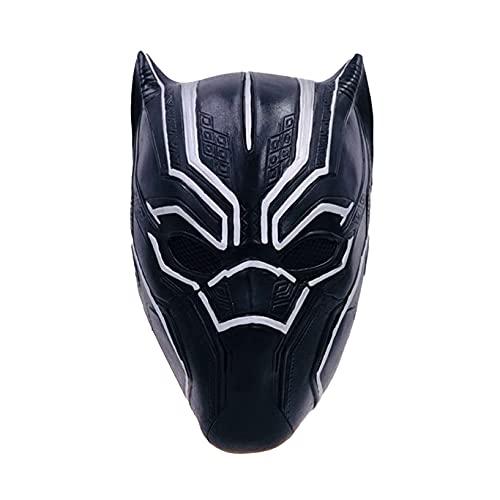 Nuitab Black Panther Head Wear Máscara de Superhéroe para Niños Juego de Halloween para Adultos Capucha de Juego Fiesta de Cumpleaños Disfrazada Cubierta,Black