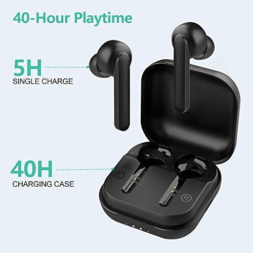Willful Ecouteur Bluetooth sans Fil, Oreillette Sport Tactile avec Micro Intégré IPX7 Étanche HiFi Stéréo USB C Autonomie 50h Indicateur de Batterie Assistant Vocal pour iPhone Android Ordinateur TV