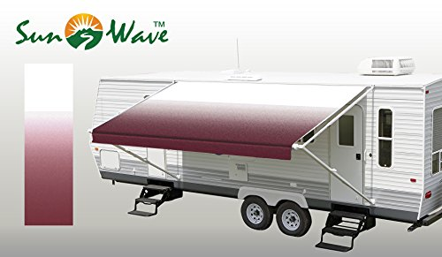 SunWave Awning Fabric Burgundy Fade 18'(approximate Fabric Width 17' 2-3')