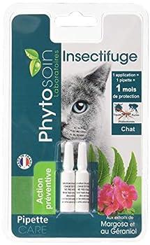 Phytosoin - 095035 - Pipettes Insectifuges Chats - 1 mois d'efficacité - Un pack de 2 pièces