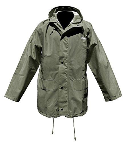 Ocean Rainwear Damen Herren Regenjacke Modell Budget, Farbe:oliv, Größe:XL