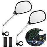 EEEKit Bike Mirror, 1 Pair Safer Bicycle Mirror for Handlebars, Bicycle Rearview Mirrors,Stainless Steel...