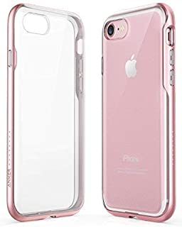 iPhone 8 Case, iPhone 7 Case, Anker Ice-Case Lite Clear Protective Slim Case Cover Soft TPU Back with Hard Bumper Frame and Enhanced Grip for Apple iPhone 8/7 [Support Wireless Charging] (Rose Gold)