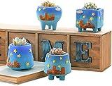 LY88 4 Piezas macetas de cerámica de Dibujos Animados creativos Plantas jugosas...
